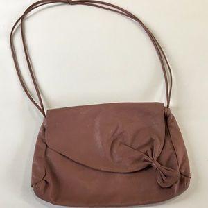 Vintage 90's Faux Leather Dusty Rose Bag
